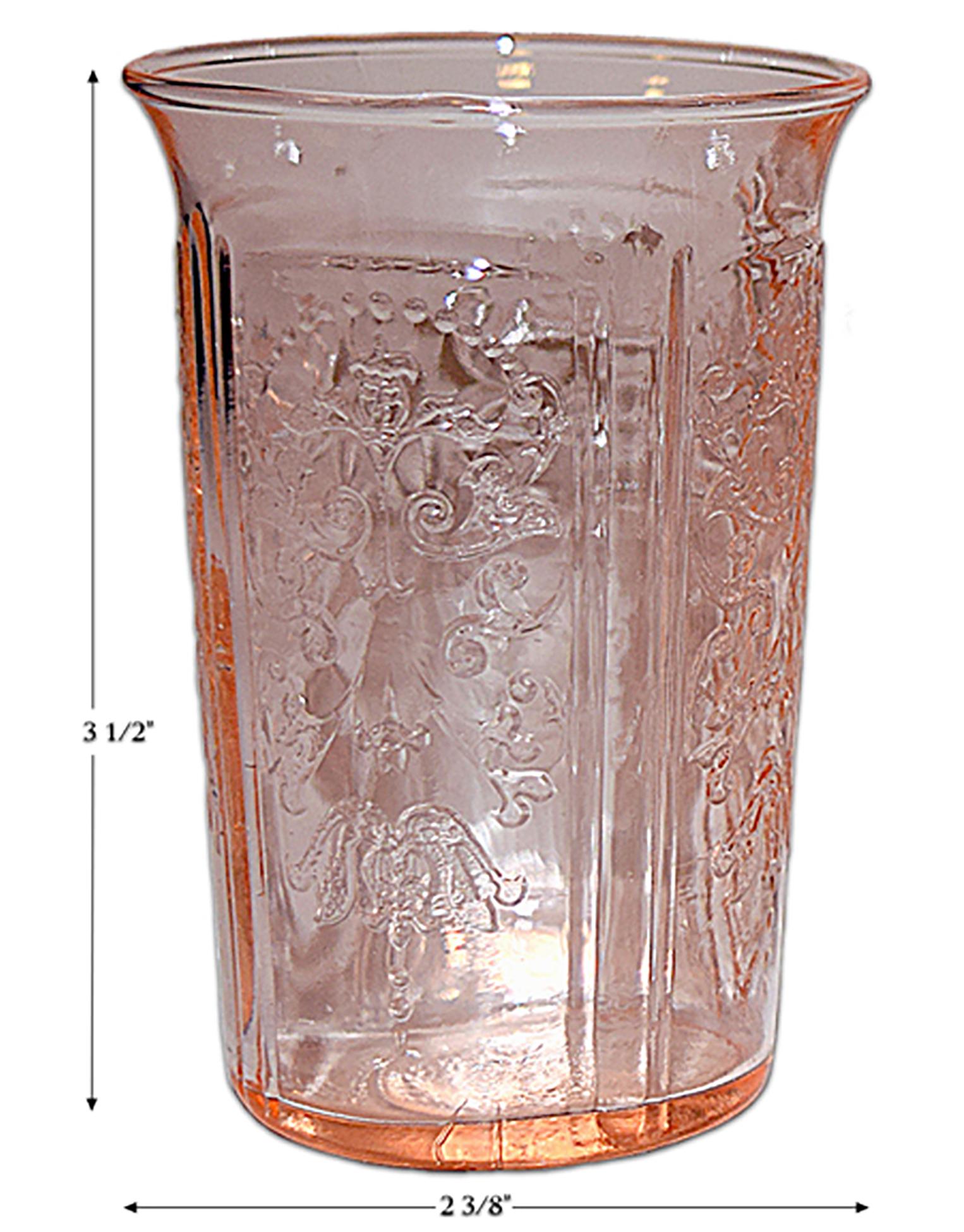 Macbeth Evans American Sweetheart Pink Juice Tumbler