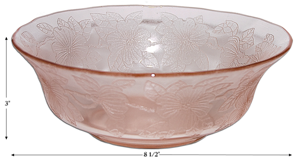 "MacBeth Evans Dogwood 8 1/2"" Berry Bowl"