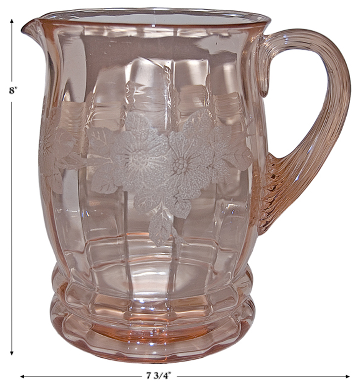 MacBeth Evans Dogwood Pink Pitcher