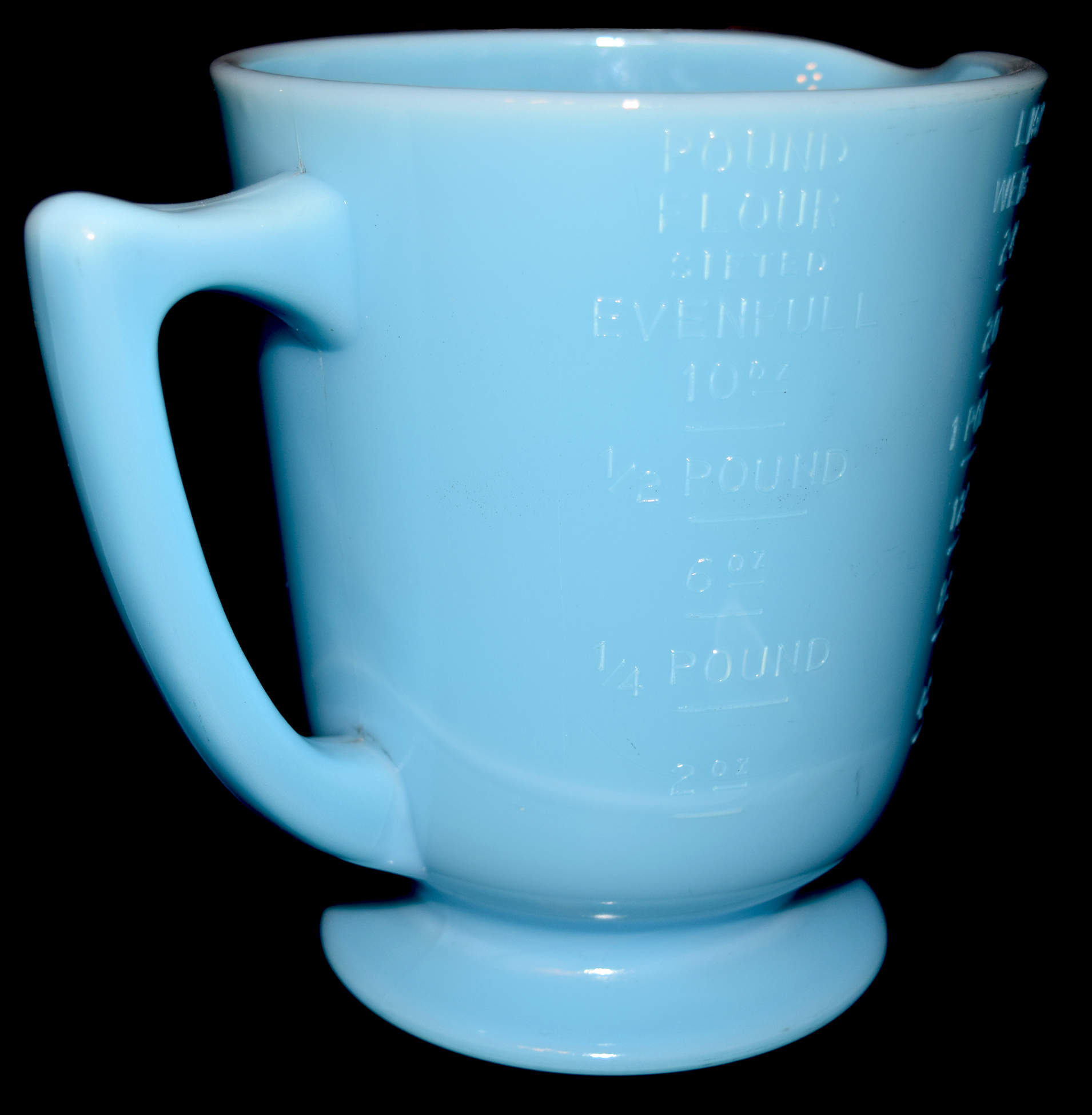 McKee Chalaine Blue 4 Measuring Cup The Handle