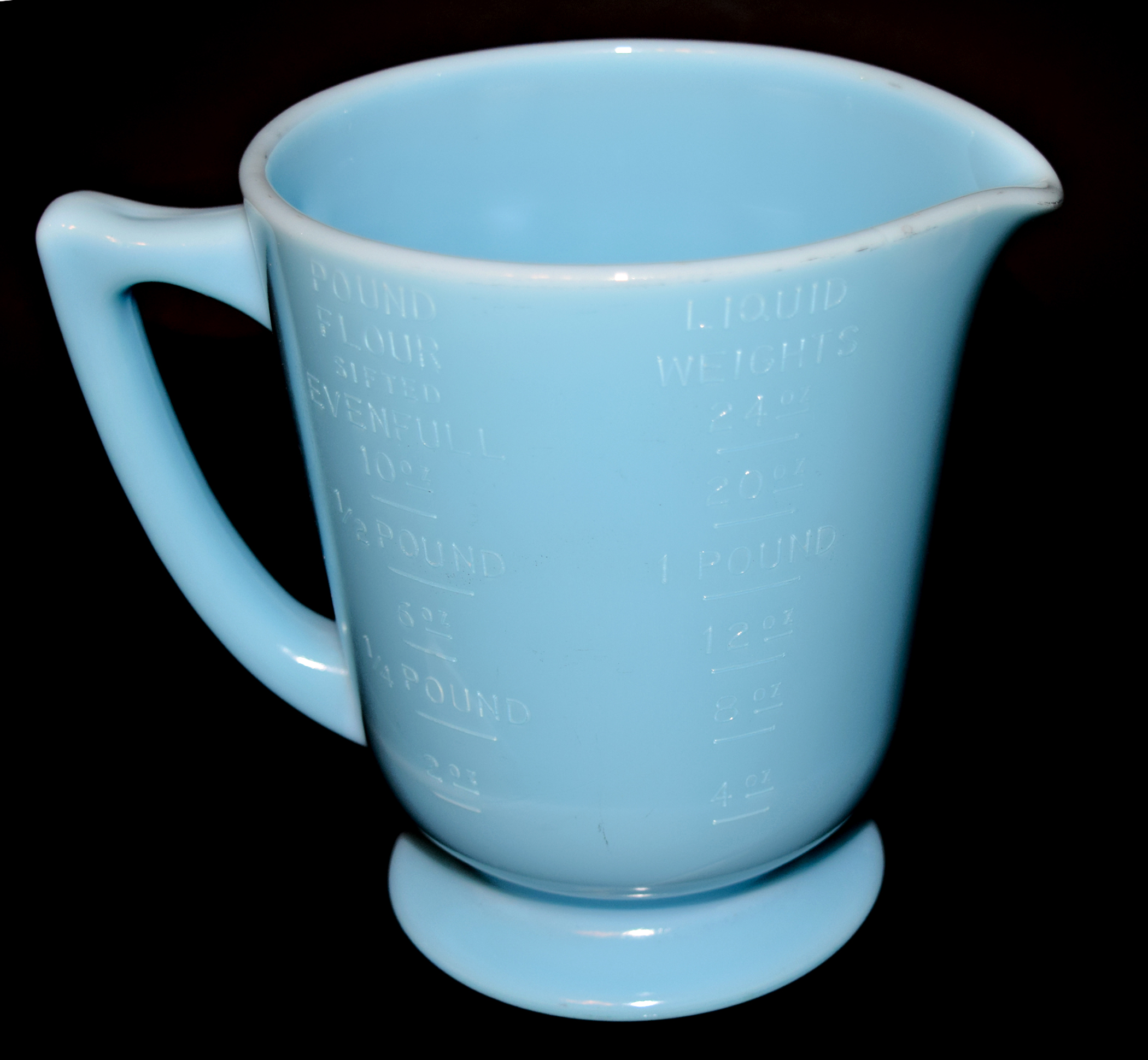 McKee Chalaine Blue 4 Measuring Cup The Other Side