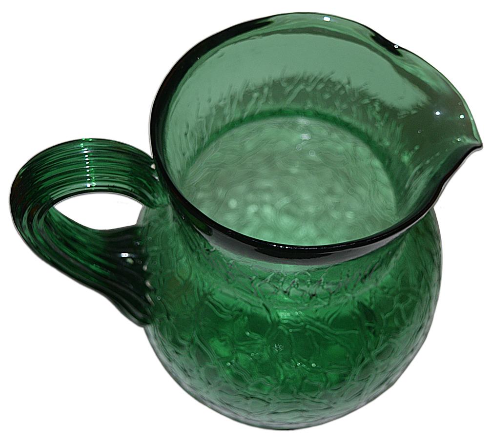 Innovation Crackled Glass Ice Tea Set Pitcher Bottom