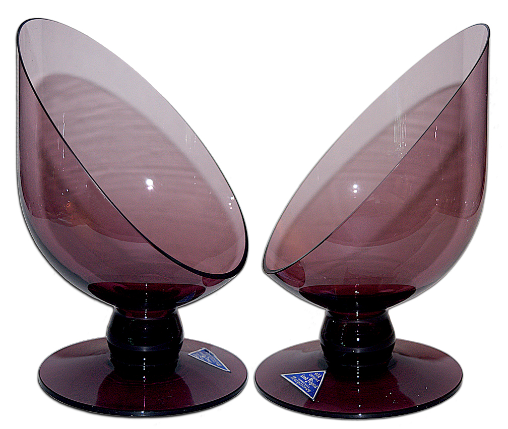 Morgantown Amethyst Cosmopolitan Candlesticks The Side