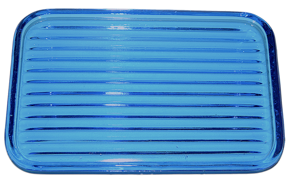 New Martinsville Peacock Blue Guest Set / Tumble Up Tray