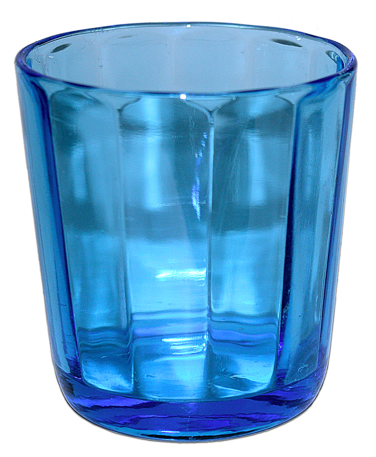 New Martinsville Peacock Blue Guest Set / Tumbler