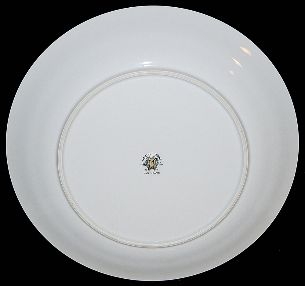 "Noritake Mystery 10 1/2"" Dinner Plate Backstamp"