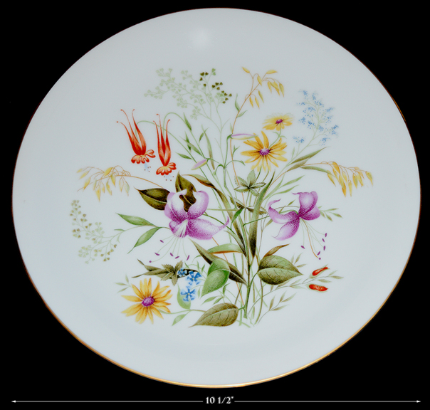 """Noritake Mystery 10 1/2"""" Dinner Plate"""