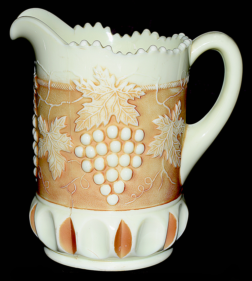 Northwood Custard Nutmeg Grape and Cable Pitcher