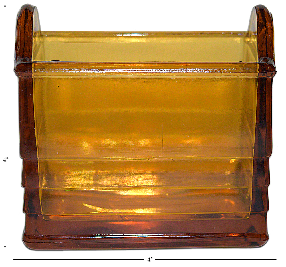 Paden City Amber Napkin Holder