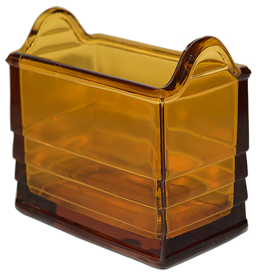 Paden Deep Amber Napkin Holder The Side