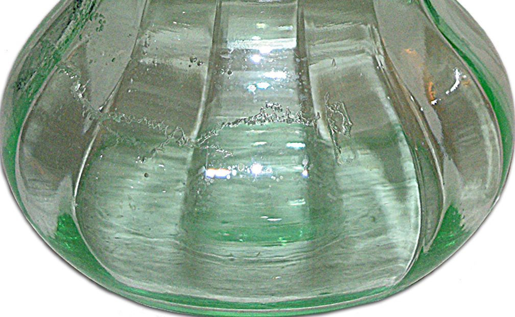 Paden City Vintager Green Vase Bubble Area