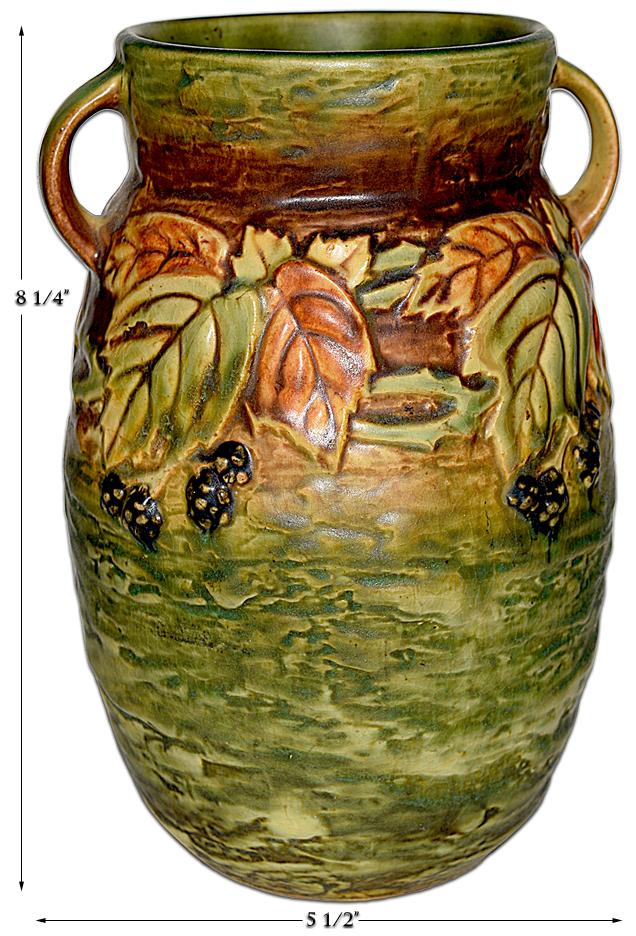 """Blackberry 8"""" Handled Vase"""