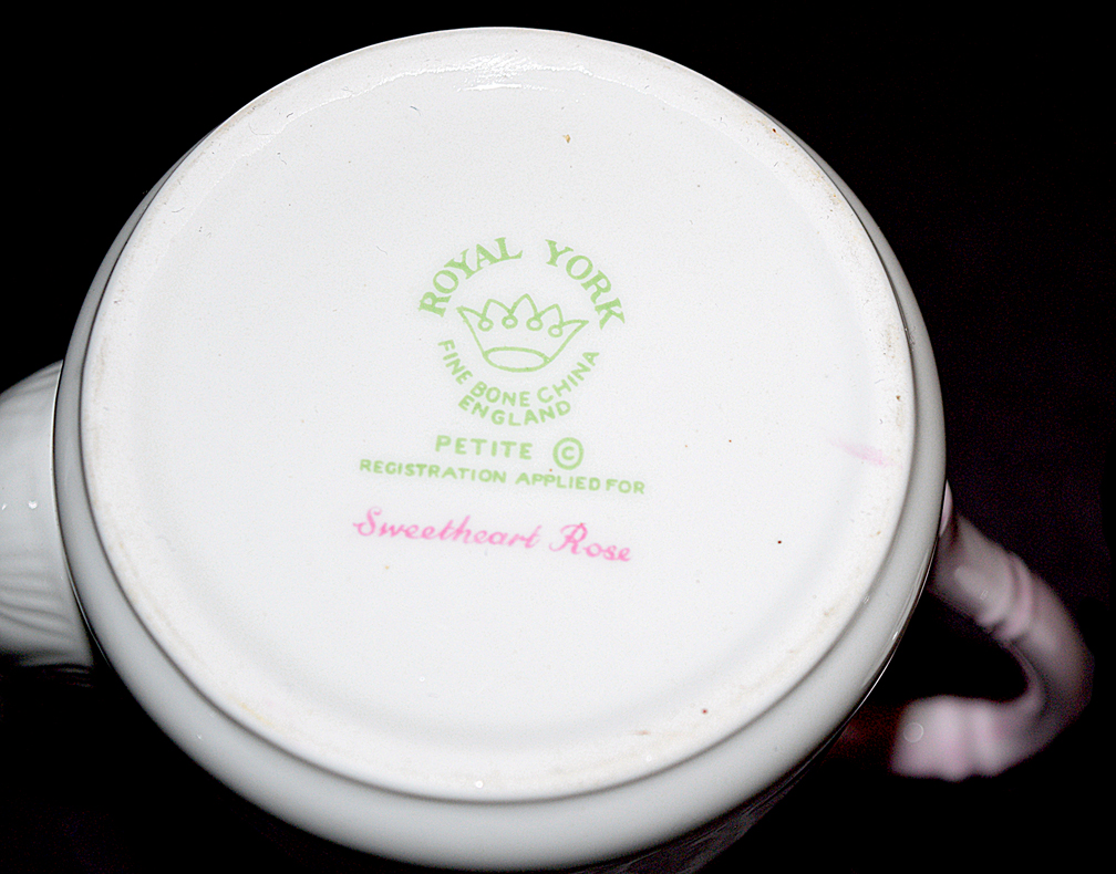 Royal York Sweetheart Rose Demitasse Backstamp