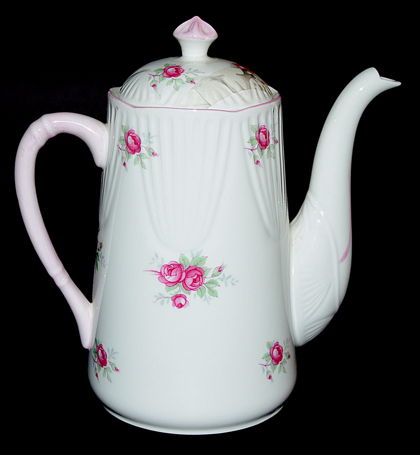 Royal York Sweetheart Rose Demitasse Coffee Pot The Other Side
