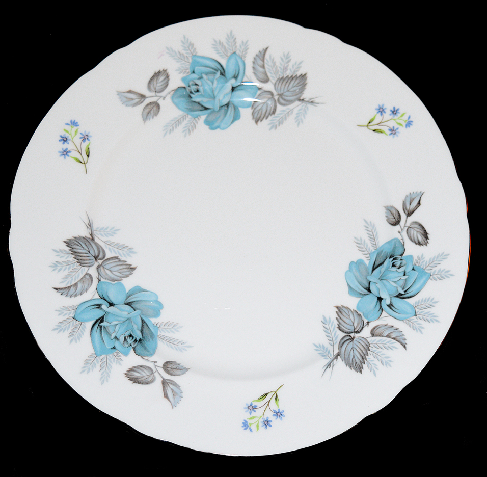 Shelley Blue Rose Plate