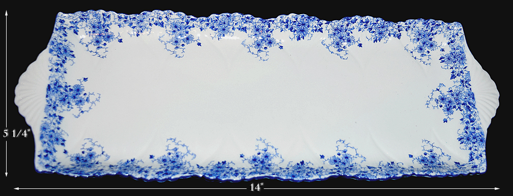 Shelley Dainty Blue Bread Tray
