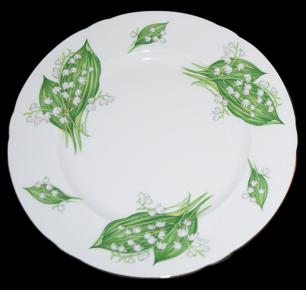 Shelley Lilly of the Valley Plate