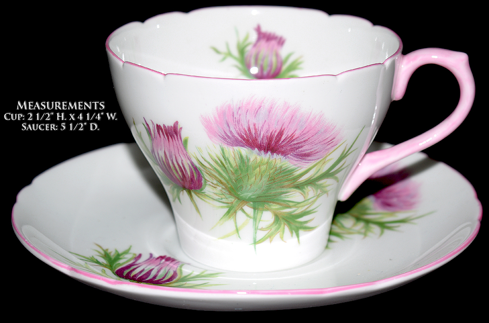 Shelley Thistle New Cambridge Cup and Saucer