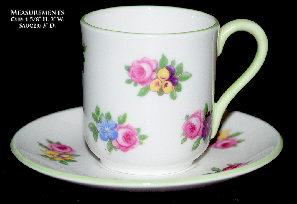 Shelley Yutoi Floral Boquet Miniature Cup and Saucer