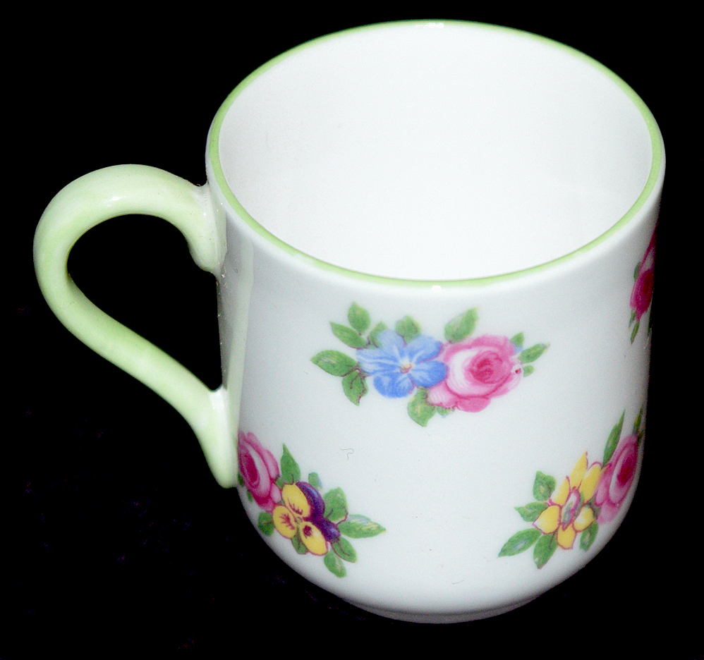 Shelley Yutoi Floral Boquet Miniature Cup