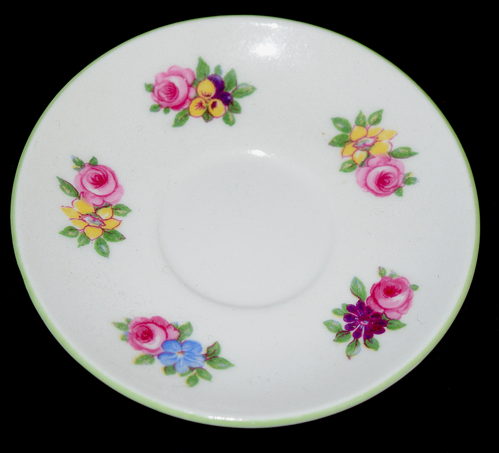 Shelley Yutoi Floral Boquet Miniature Saucer