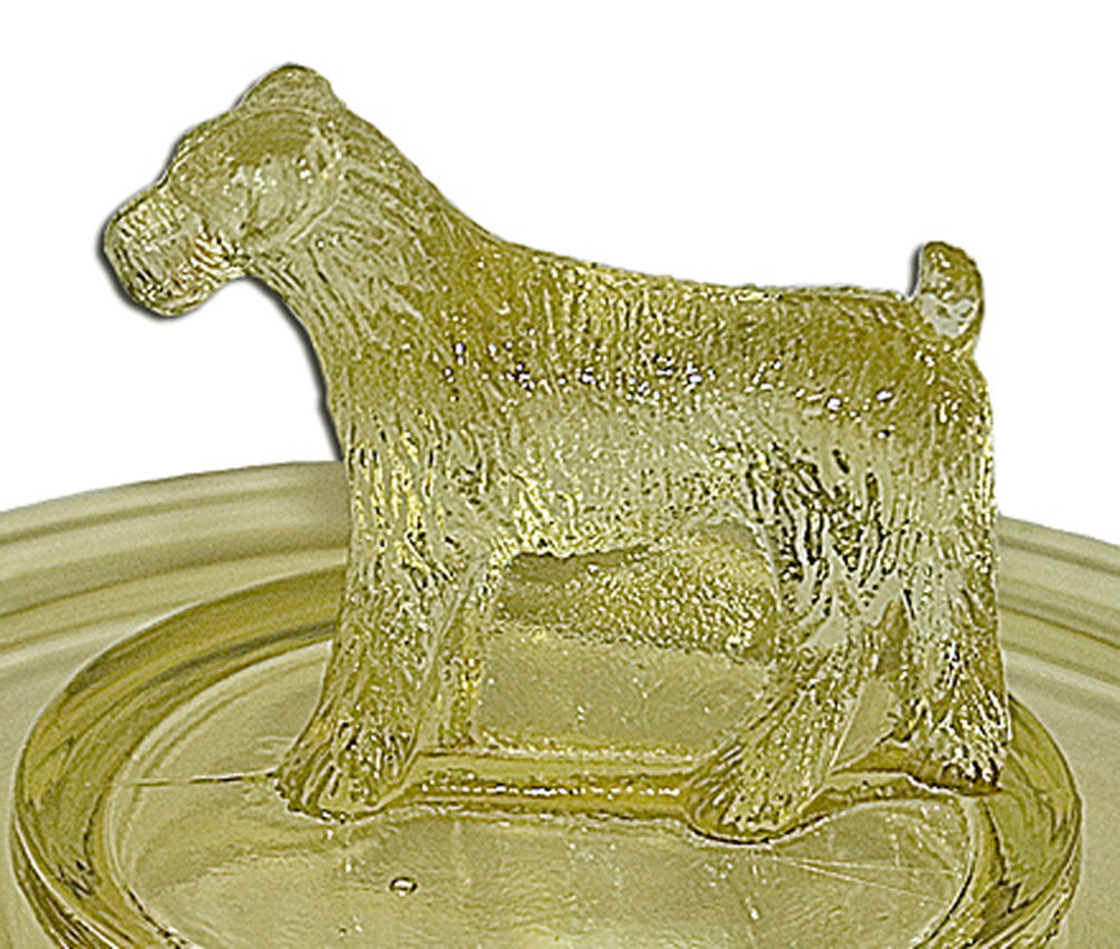 Standing Terrier Ashtray Finial