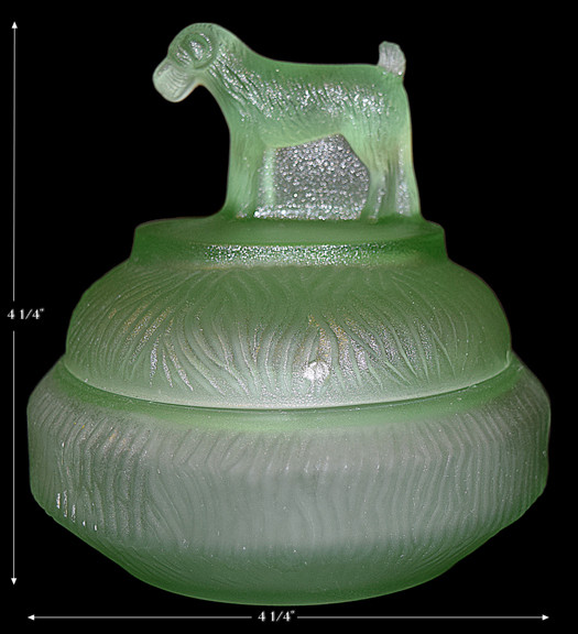 L.E. Smith Terrier Mini Powder Jar