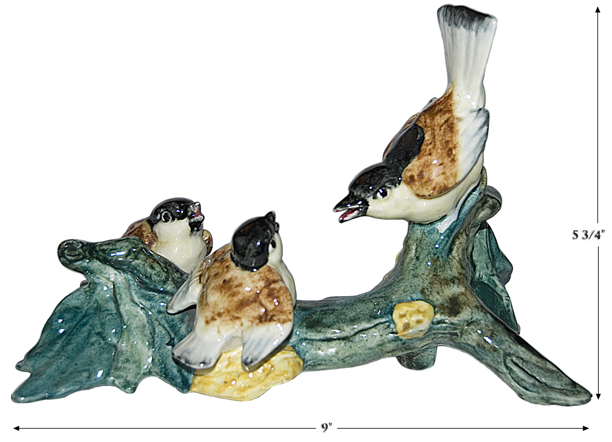 Stangl Chickadees On a Branch Figure