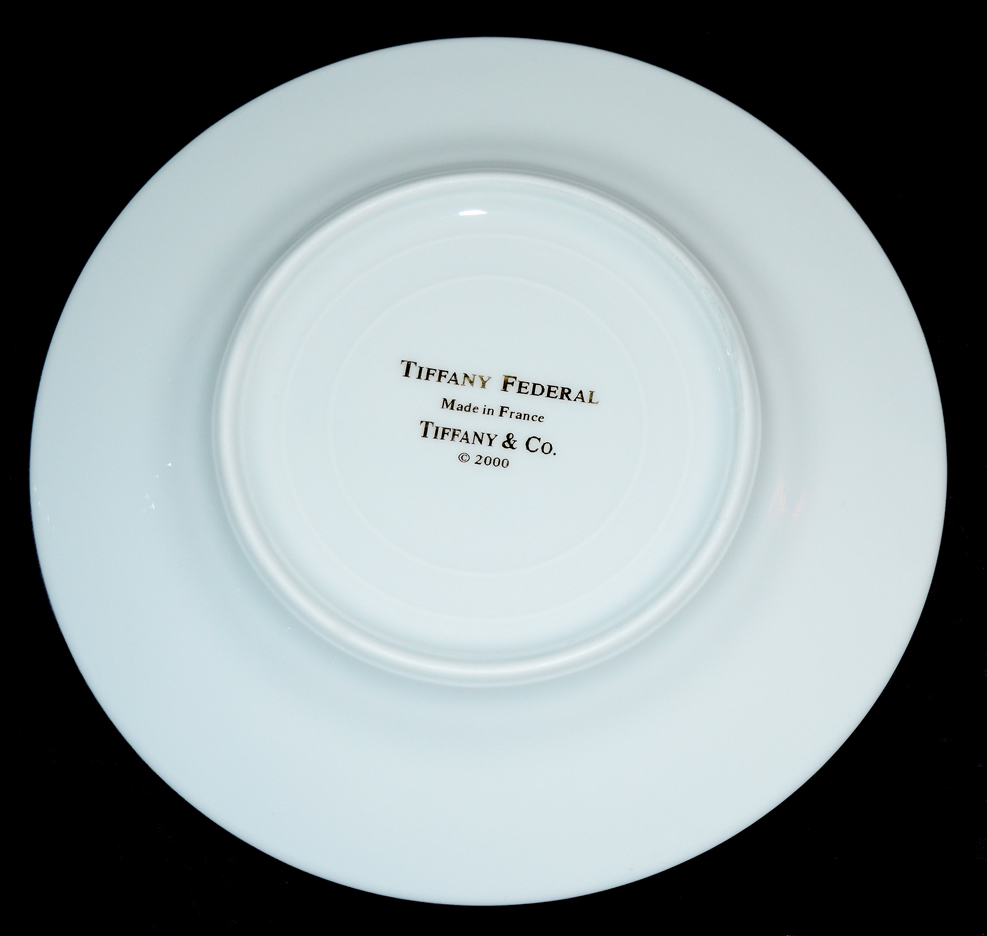 Tiffany Federal Bread and Butter Plate Back