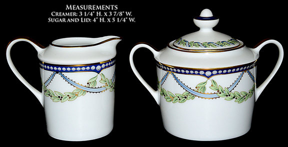 Tiffany Federal Sugar / Creamer and Lid