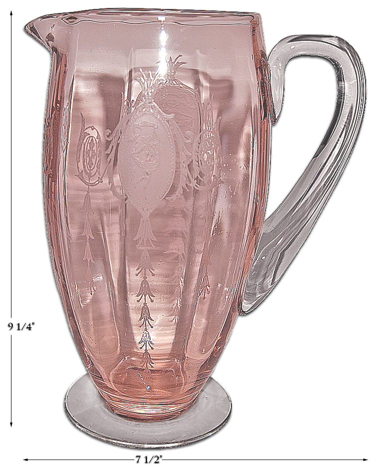Tiffin Pink Classic Pitcher / Jug