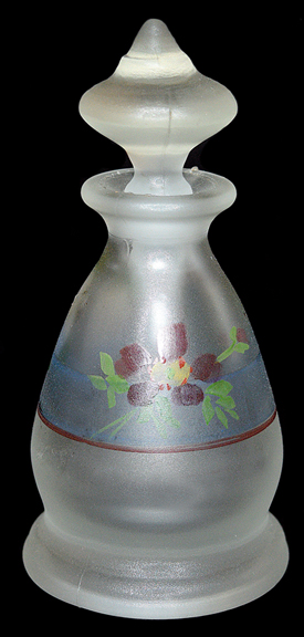 Tiffin / US Glass #5752 Perfume Bottle with Decoration Back