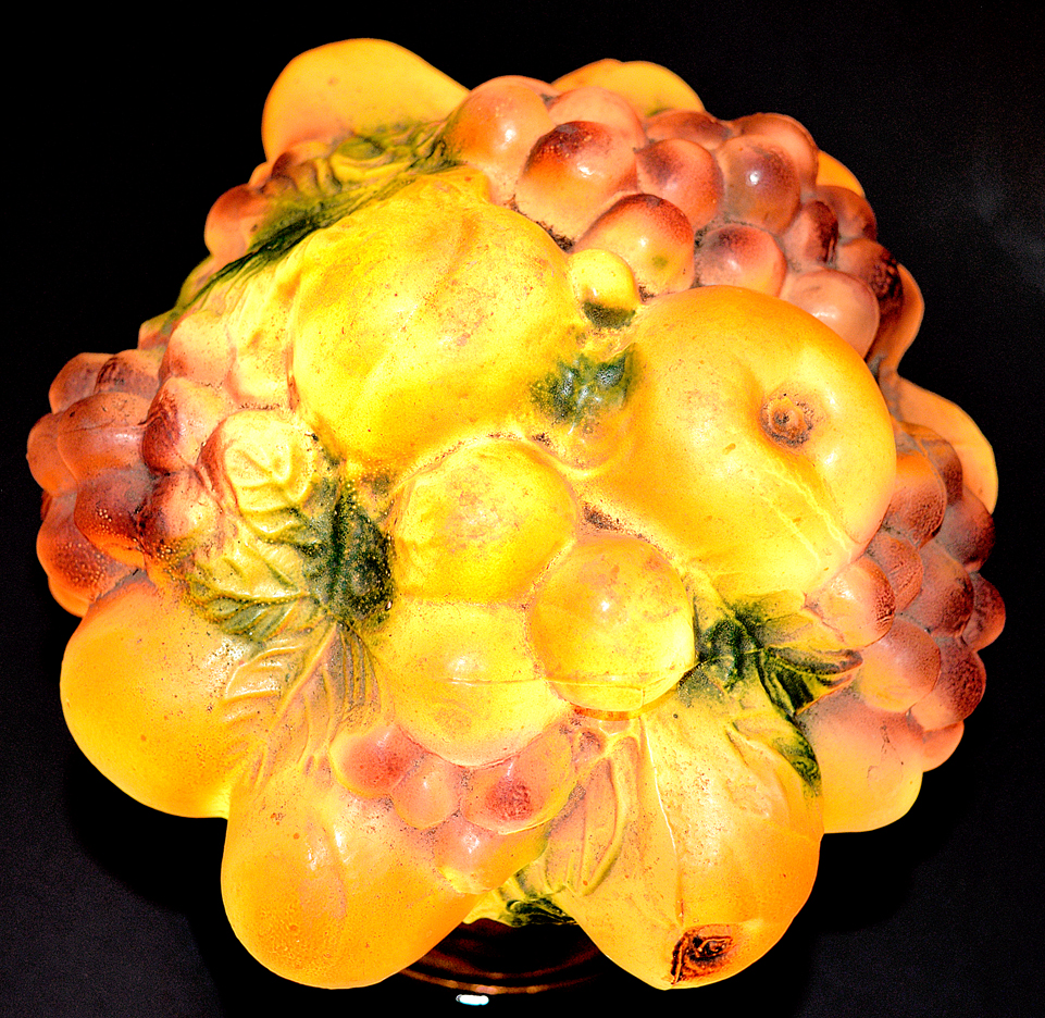 Tiffin Fruit Lamp Lit from the Top