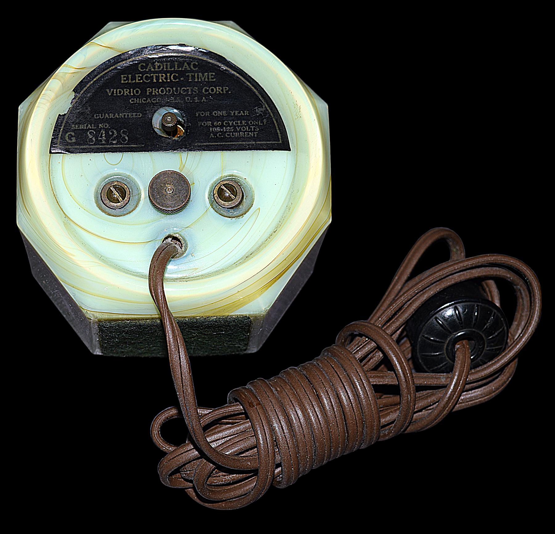 Vidrio Electric Time Clock Timer Back