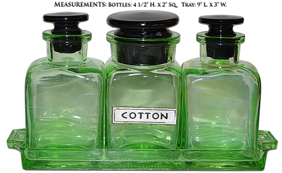 Westmoreland Green and Black Vanity Set