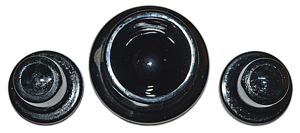Westmoreland Green and Black Vanity Set Stoppers