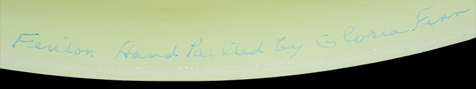 Fenton Blue Bird Lamp Signiture